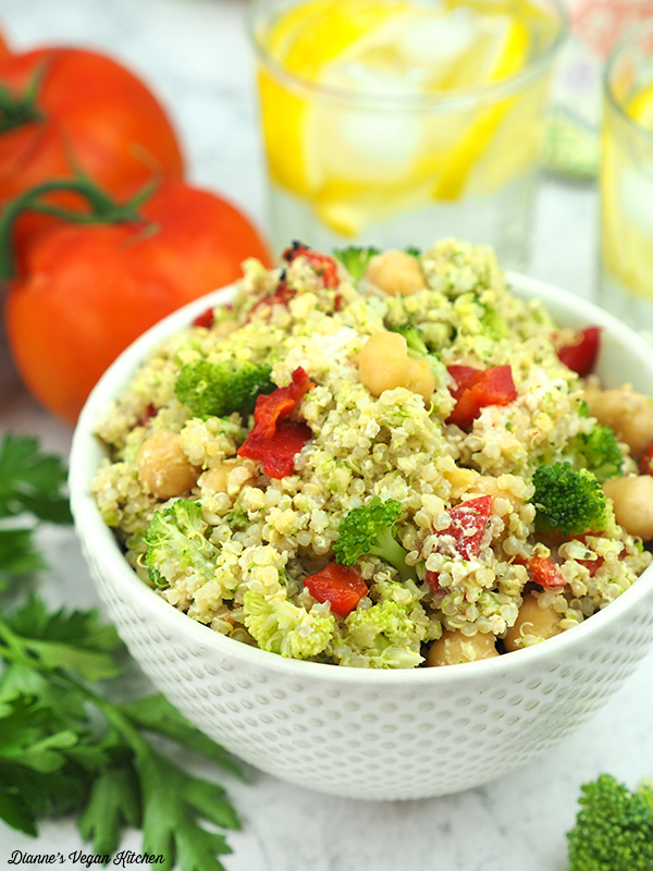 Double Broccoli Quinoa Salad
