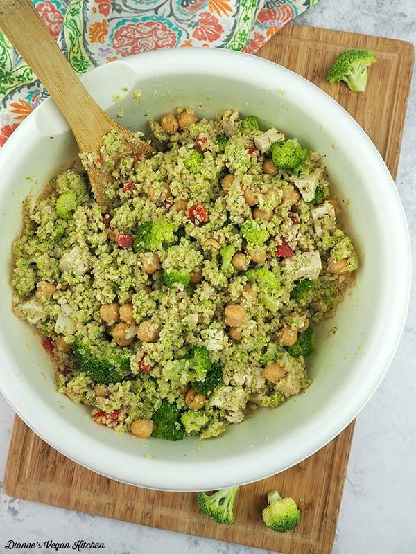 mixed quinoa salad