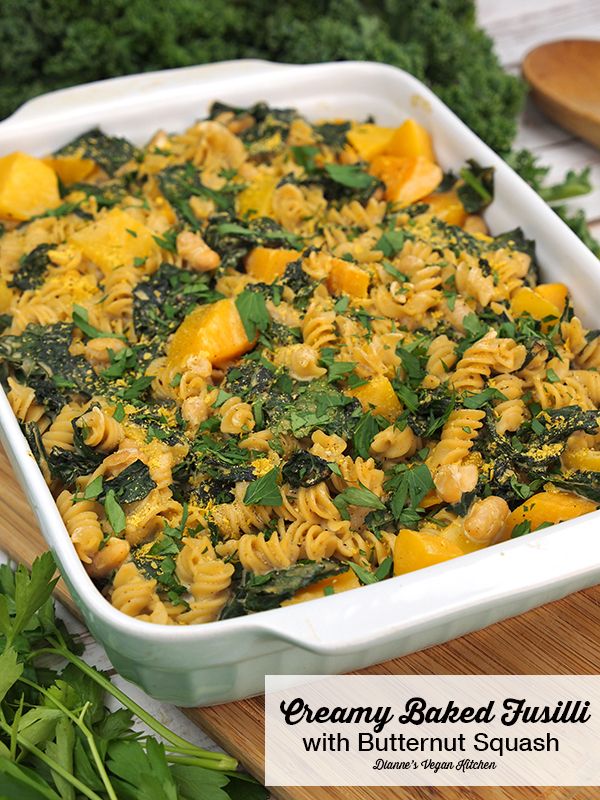 Creamy Baked Fusilli with Butternut Squash