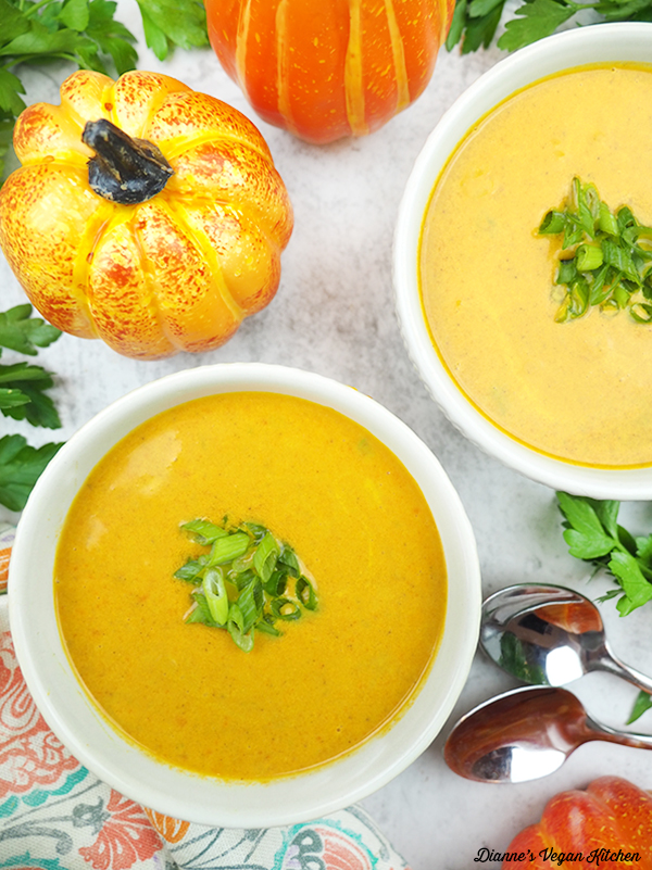 two bowls of Pumpkin Ginger Soup