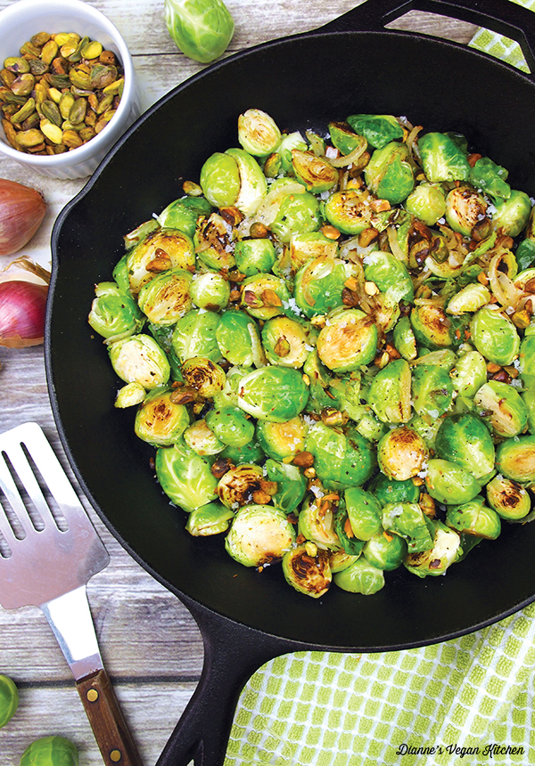 cooked sprouts in pan