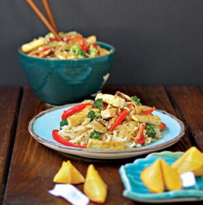 Szechuan Stir-Fry with Fiery Peanut Sauce from Nut Butter Universe