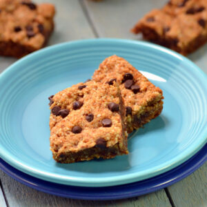 Sticky Almond Blondies