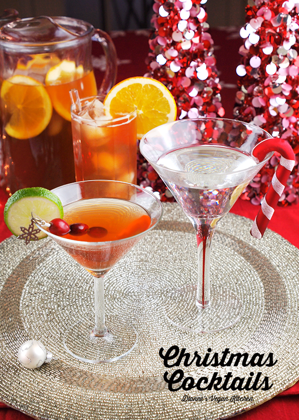 Raise a glass and toast the holidays with one (or all!) of these Christmas Cocktails! >> Dianne's Vegan Kitchen