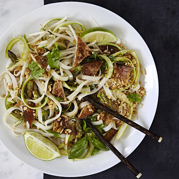 Asparagus Pad Thai Salad from Salad Samurai by Terry Hope Romero