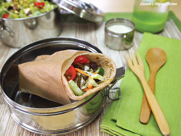 """Vegan Seitan Gyro with Tahini Sauce >> Dianne's Vegan Kitchen"""" width=""""600″ height=""""450″></a>ThisVegan Seitan Gyro has become my go-to when I'm not sure what to make for lunch. It's also a summertime light meal favorite. I like to enjoy these wraps with a salad sitting outside in the backyard when the weather is warm and it's too hot to turn the oven on.</p> <p><a href="""