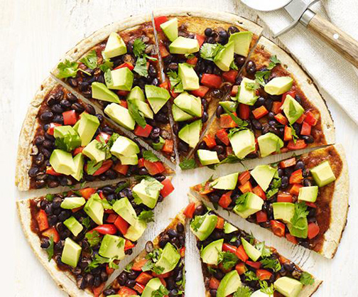 South of the Border Pizza from The Forks Over Knives Plan