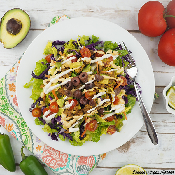 Raw Vegan Taco Salad