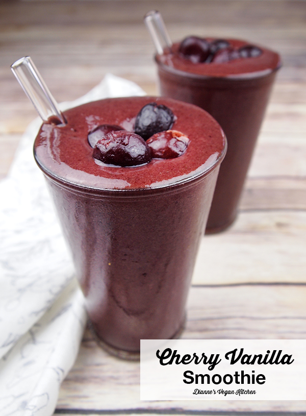 Vega Cherry Vanilla Smoothie >> Dianne's Vegan Kitchen