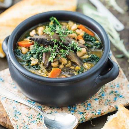 White Bean & Portobello Stew from But I Could Never Go Vegan!