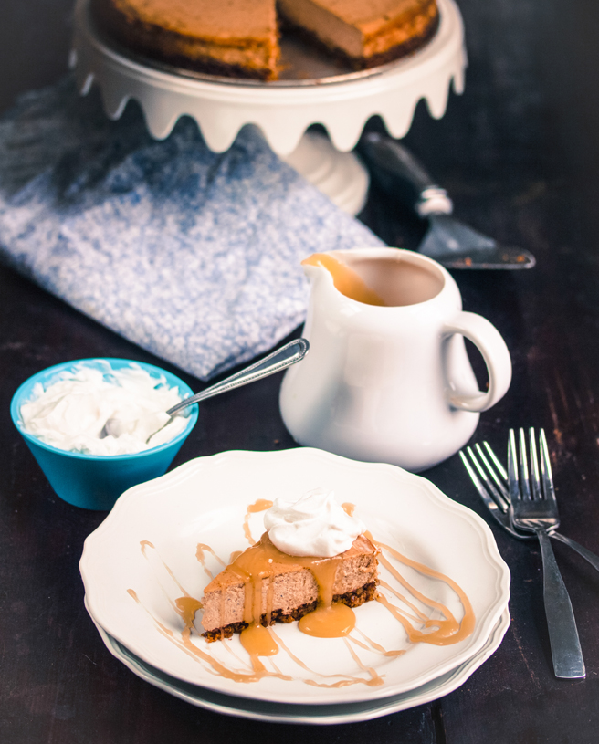 Caramel Chai Cheesecake from Sweet Eats for All by Allyson Kramer