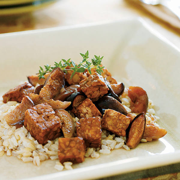 Kathy Hester's Slow Cooker Tempeh Braised with Figs and Port Wine