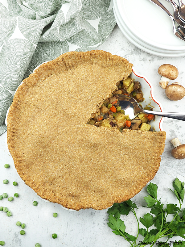 Chickpea Pot Pie from The Truly Healthy Vegan Cookbook