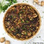Vegan Caramelized Onion and Mushroom Tart square
