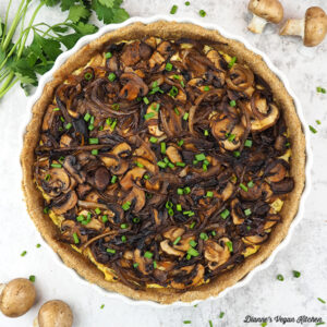 Vegan Caramelized Onion and Mushroom Tart square