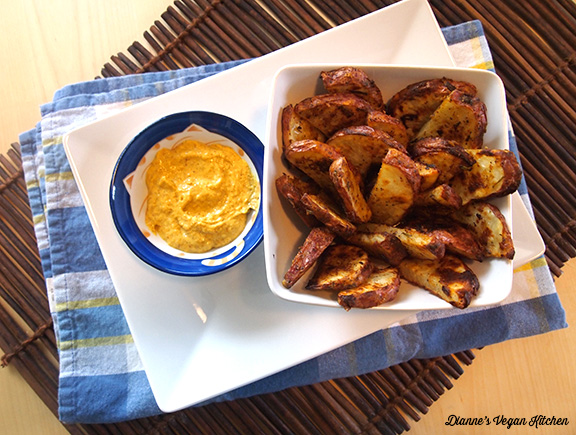 Mustard Coated Oven Fries >> Dianne's Vegan Kitchen