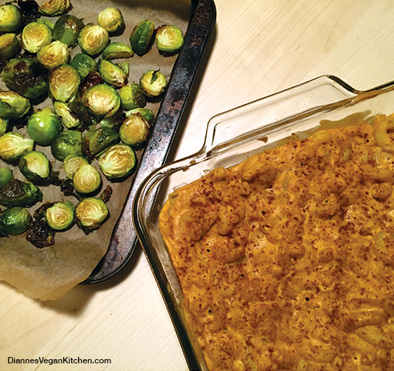 Ethiopian-Style Roasted Brussels Sprouts with Ethiopian-Style Mac 'n' Cheesie