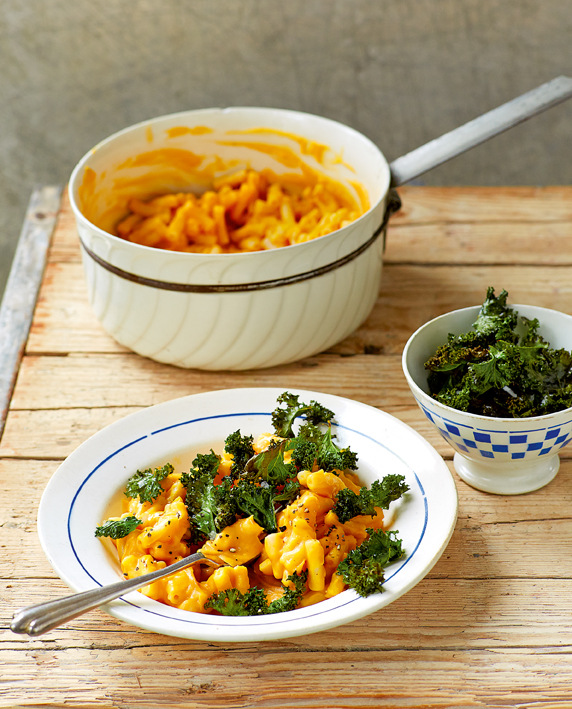 Macro No Cheese with Crispy Kale from Keep in Vegan by Aine Carlin