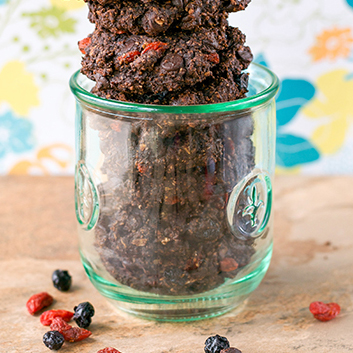 Double Chocolate Berry Good Cookies from Crave Eat Heal