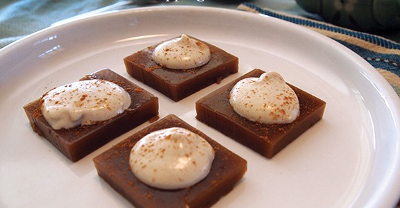 Cappuccino Gels with Cashew Cream Topping