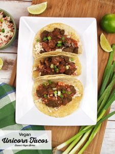 Unicorn Tacos from The Great Vegan Protein Book