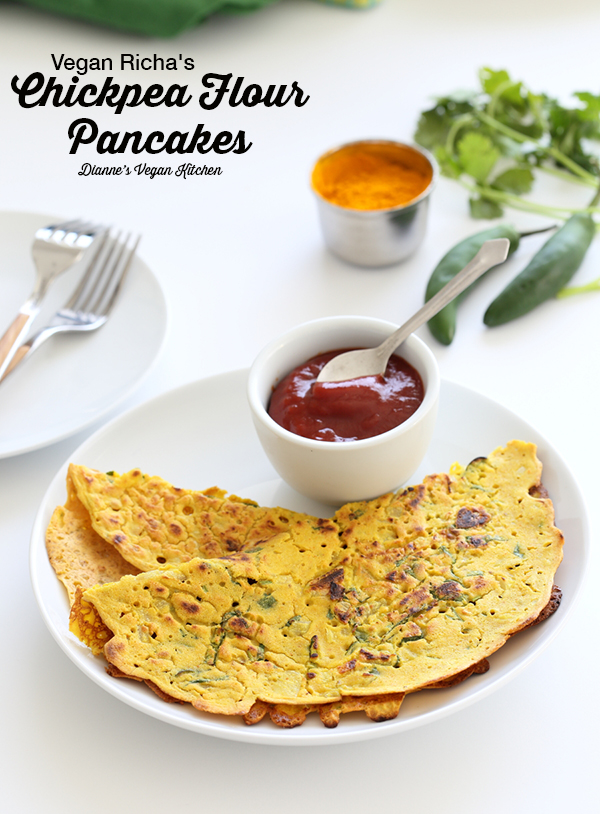 Chickpea Flour Pancakes from Vegan Richa's Indian Kitchen (vegan and gluten-free)