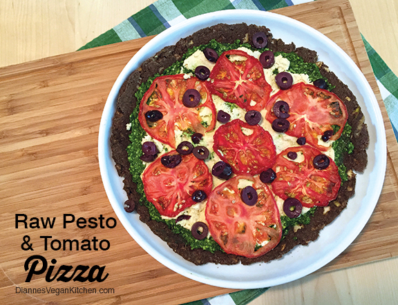 Raw pesto and tomato pizza diannes vegan kitchen raw pesto and tomato pizza diannes vegan kitchen forumfinder Gallery