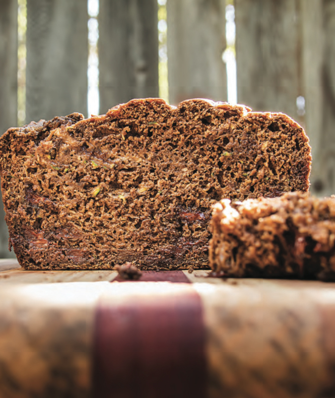 Chocolate–Chocolate Chip Zucchini-Banana Bread from Eat Like You Give a Damn by Michelle Schwegmann & Josh Hooten