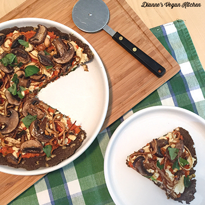 Raw Mushroom Onion Pizza