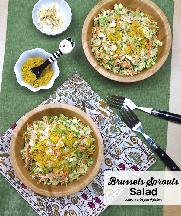 Brussels Sprouts Salad >> Dianne's Vegan Kitchen