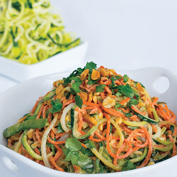 Raw Pad Thai from Spiralize! by Beverly Lynn Bennett