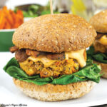 Hoppin' John Burgers with Tempeh Bacon and Spicy Aioli