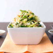 Vietnamese Brussels Sprout and Noodle Salad from Superfoods 24/7 by Jessica Nadel. Photo by Jackie Sobon.