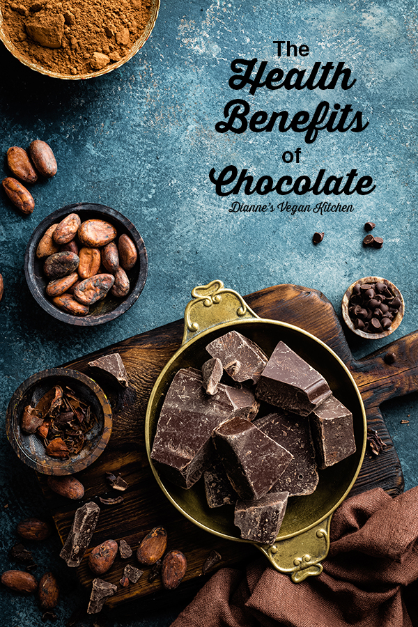 Health Benefits of Chocolate with text overlay