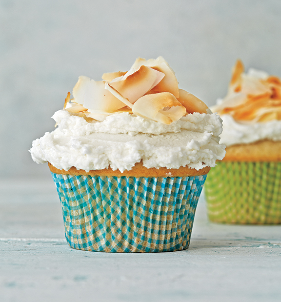 Vegan Coconut Cupcakes from 100-Best Vegan Recipes by Robin Robertson