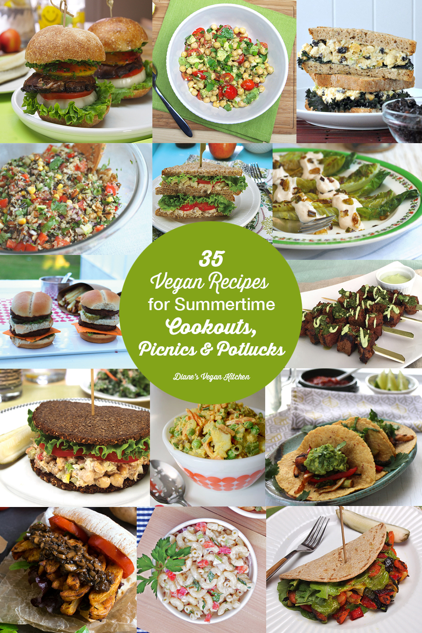 35 Vegan Recipes for Summertime Cookouts, Picnics, and Potlucks