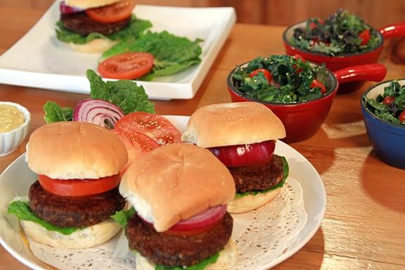 Laura Theodore's Mushroom-Nut Burgers