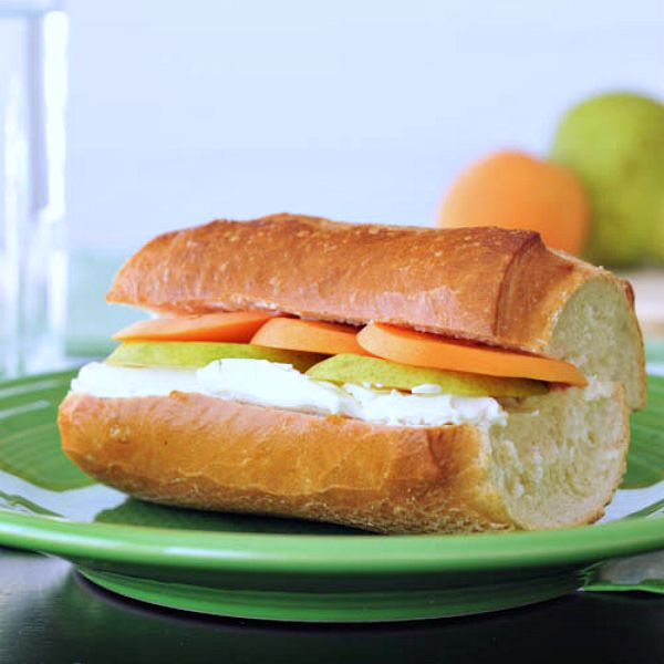 Apricot, Pear and Brie Sandwich