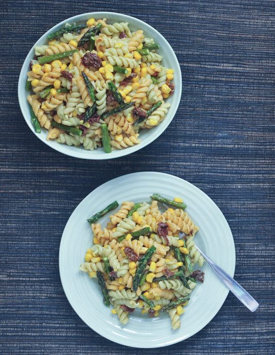 Spabettie's Perfect Picnic Pasta Salad with Lemony Avocado Sesame Dressing