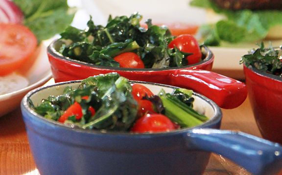 Laura Theodore's Kale and Tomato Salad