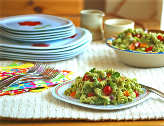Ricki Heller's Platonically Romantic Creamy Pesto Pasta Salad