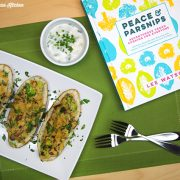 Leek and Mushroom Stuffed Potato Skins from Peace & Parsnips by Lee Watson