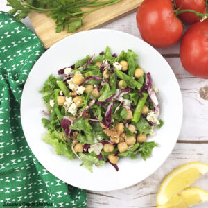 Asparagus and Chickpea Salad with Vegan Buttermilk Dressing