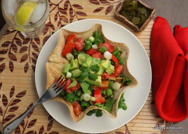 Cadry's Kitchen's Spicy Black Bean Taco Salads