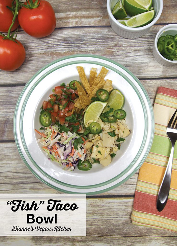 Vegan Fish Taco Bowl from Vegan Bowl Attack! >> Dianne's Vegan Kitchen
