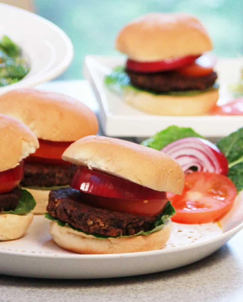 Mushroom Nut Veggie Burgers
