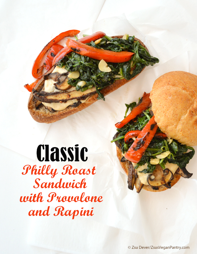 Zsu Dever's Classic Philly Roast Sandwich with Provolone and Rapini