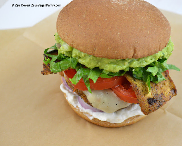 Zsu Dever's Guacamole Bacon Burger