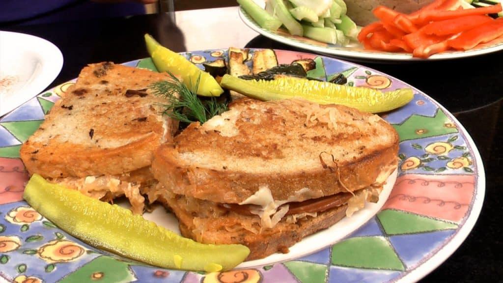 Jazzy Vegetarian's Reuben Style Sandwiches