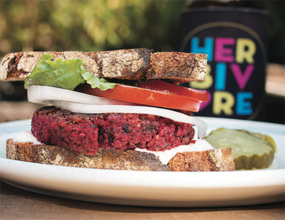 Roasted Beet Burgers from Eat Like You Give a Damn by Michelle Schwegmann and Josh Hooten